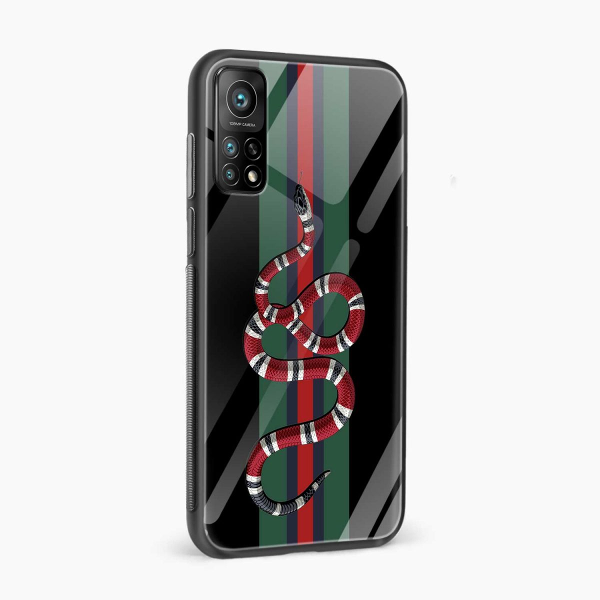 gucci snake with strips xiaomi mi 10t pro back cover side view