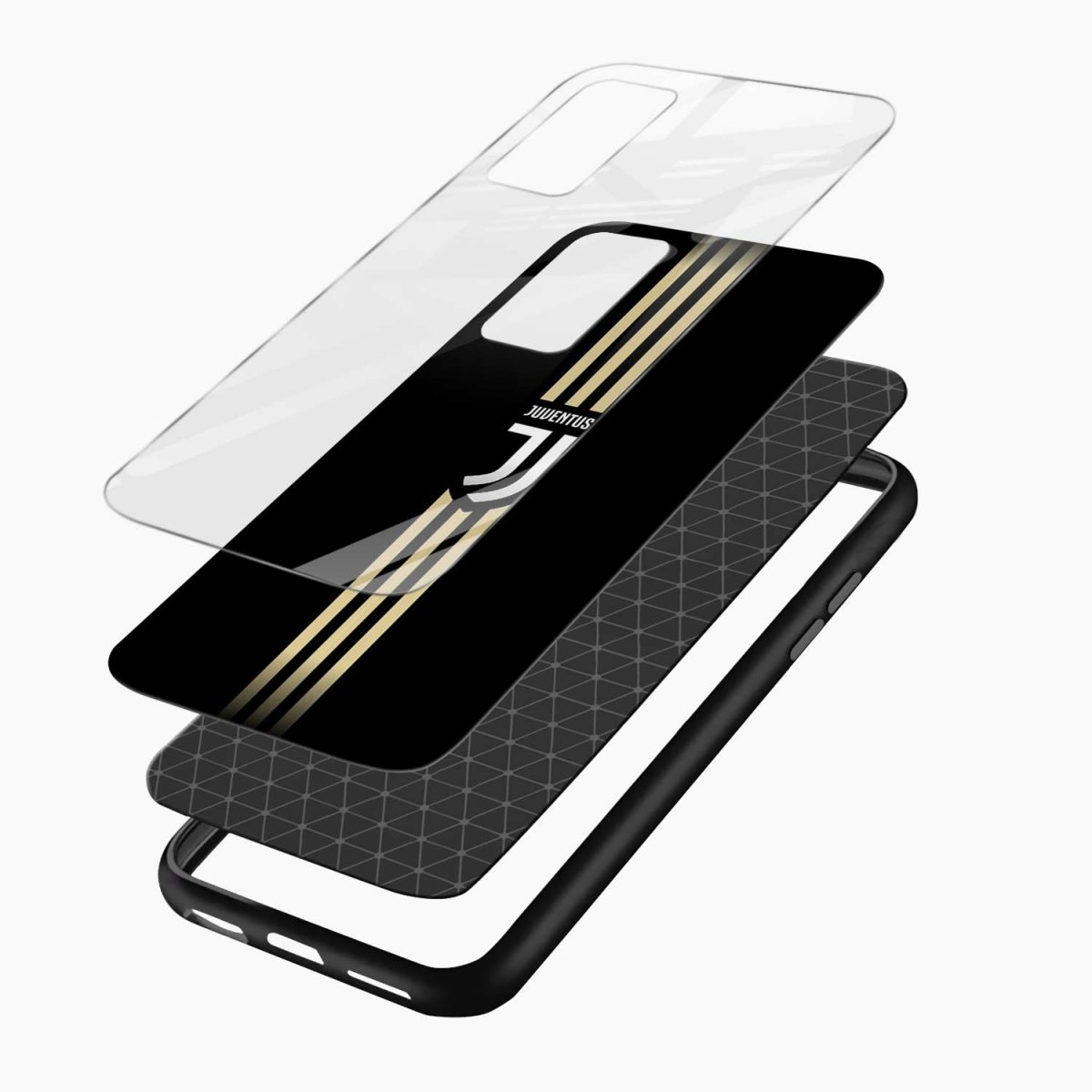 juventus golden strips xiaomi mi 10t pro back cover layers view