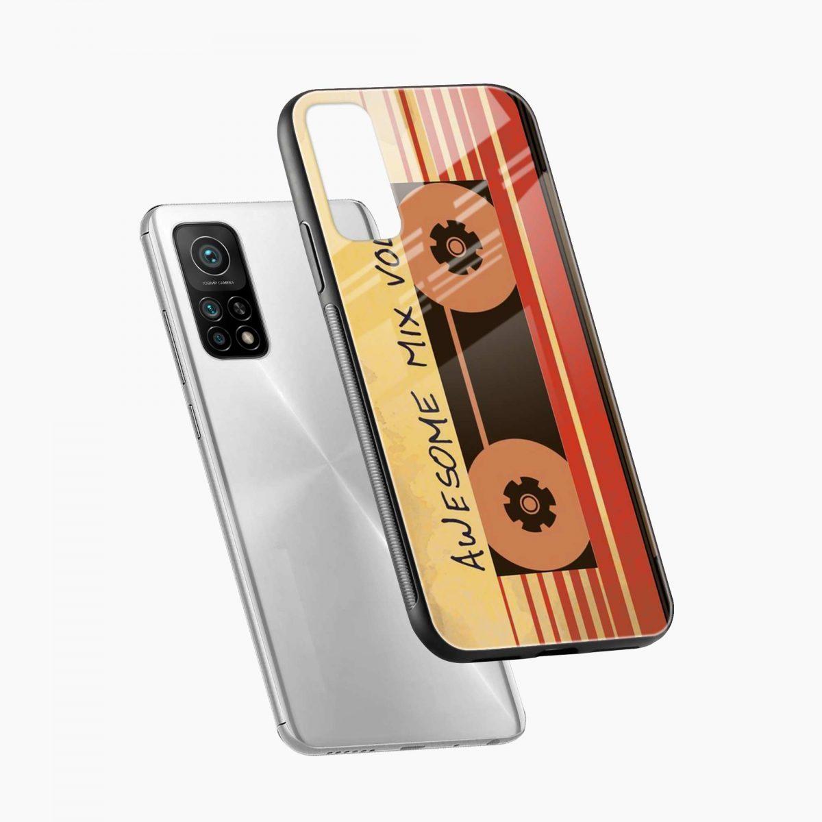 music cassette xiaomi mi 10t pro back cover diagonal view