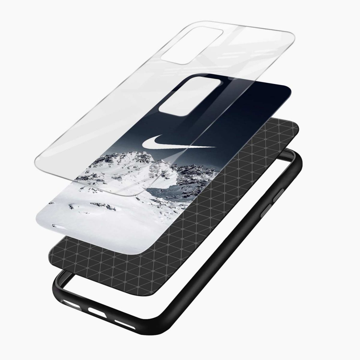 nike mountains xiaomi mi 10t pro back cover layers view