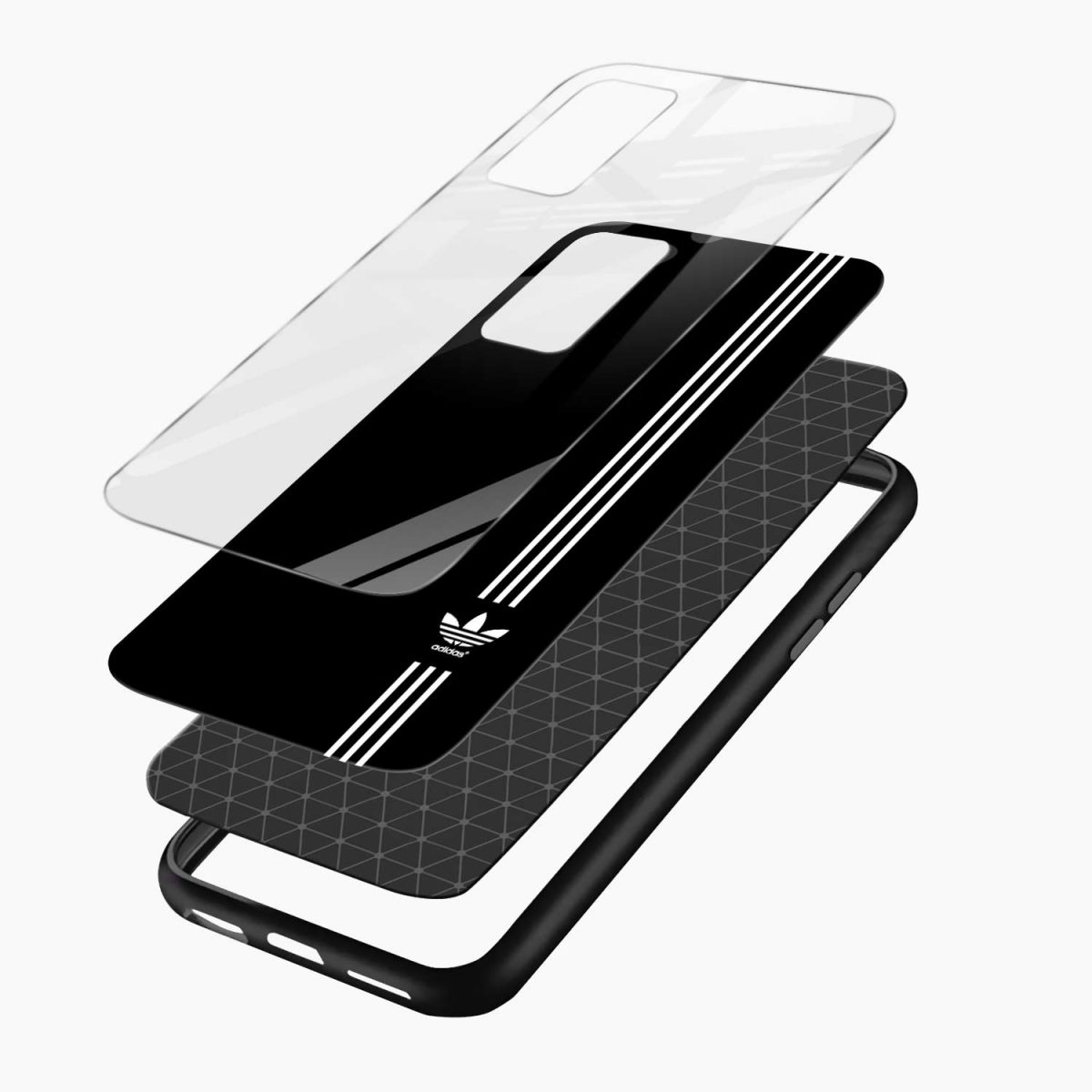 white strips adidas xiaomi mi 10t pro back cover layers view