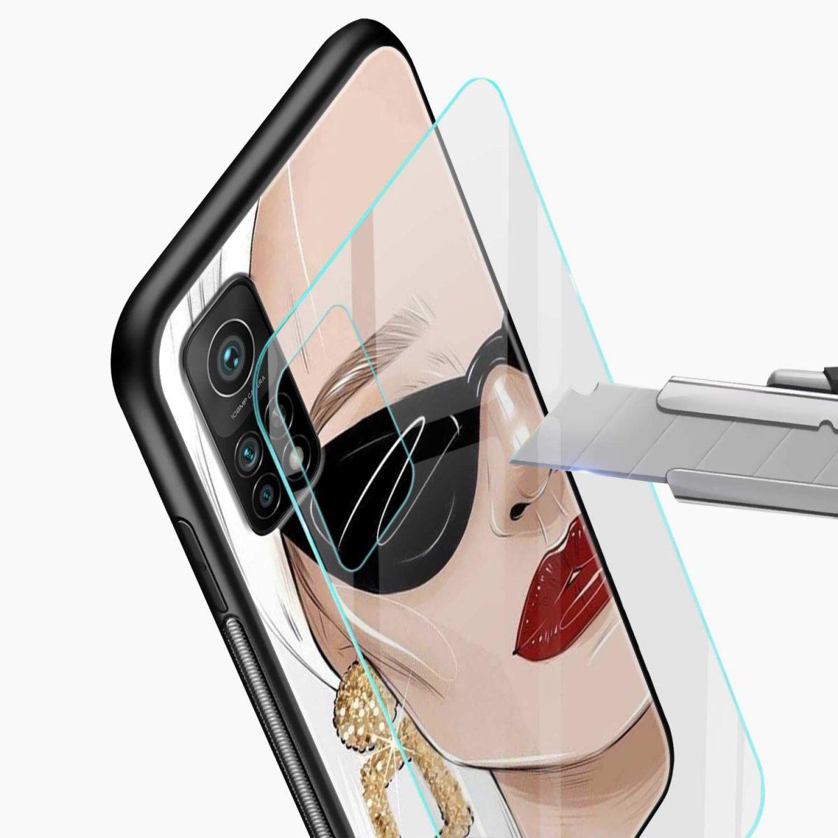 stylish women xiaomi mi 10t pro back cover glass view