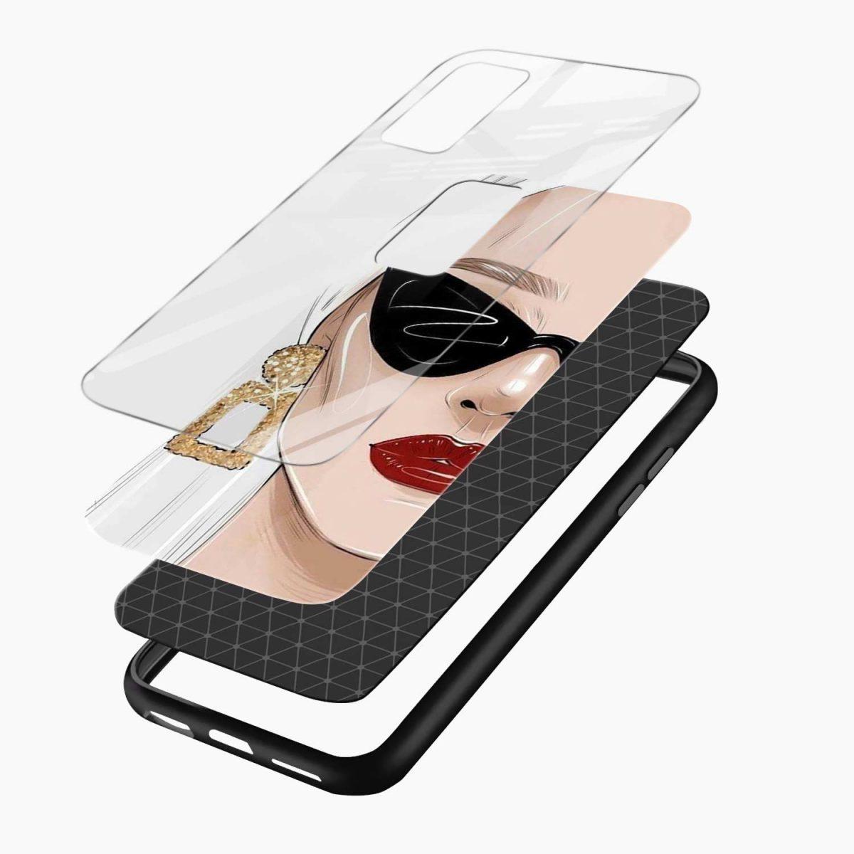 stylish women xiaomi mi 10t pro back cover layers view