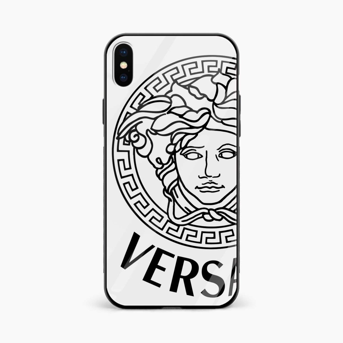 versace black white front view apple iphone x xs max back cover