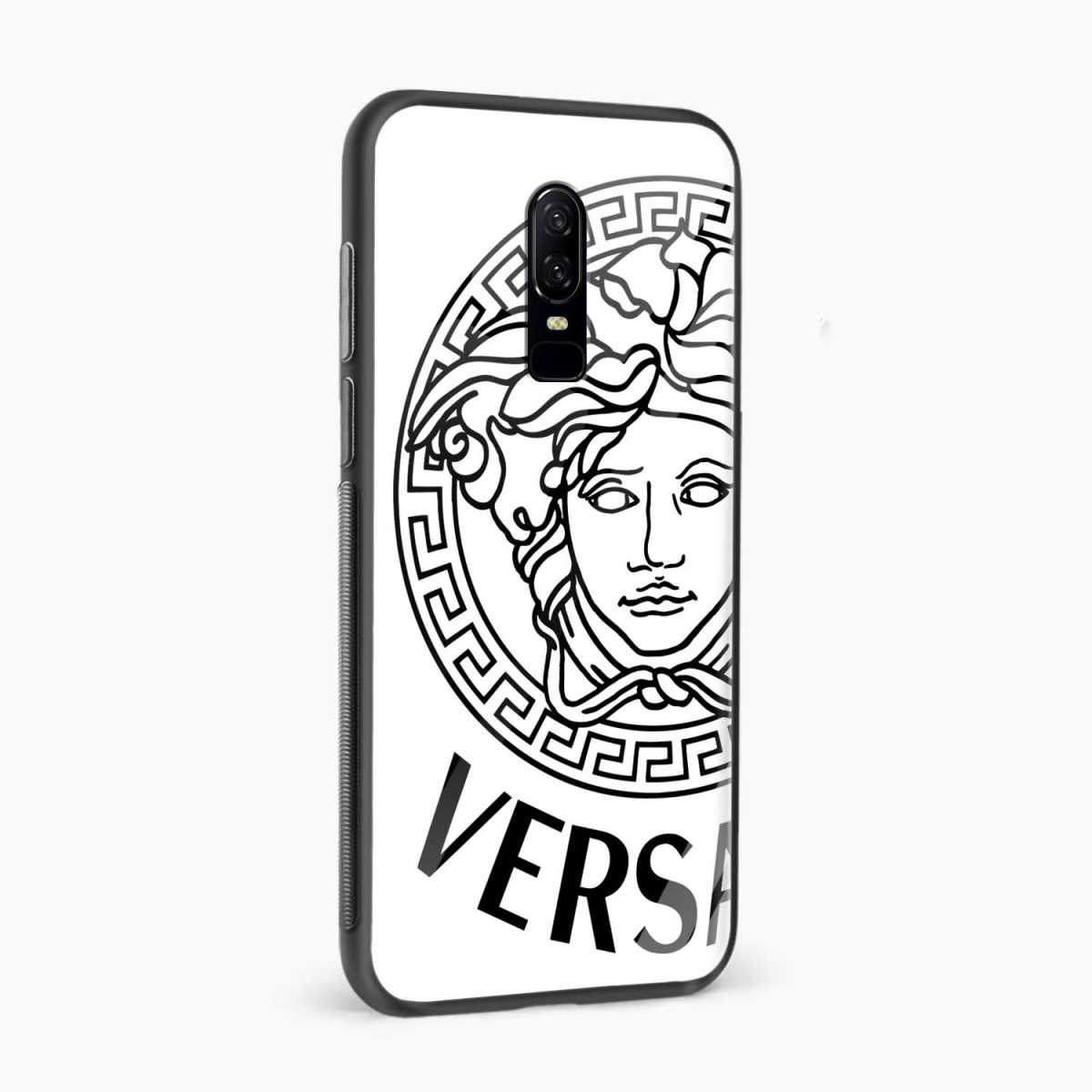 versace black white side view oneplus 6 back cover