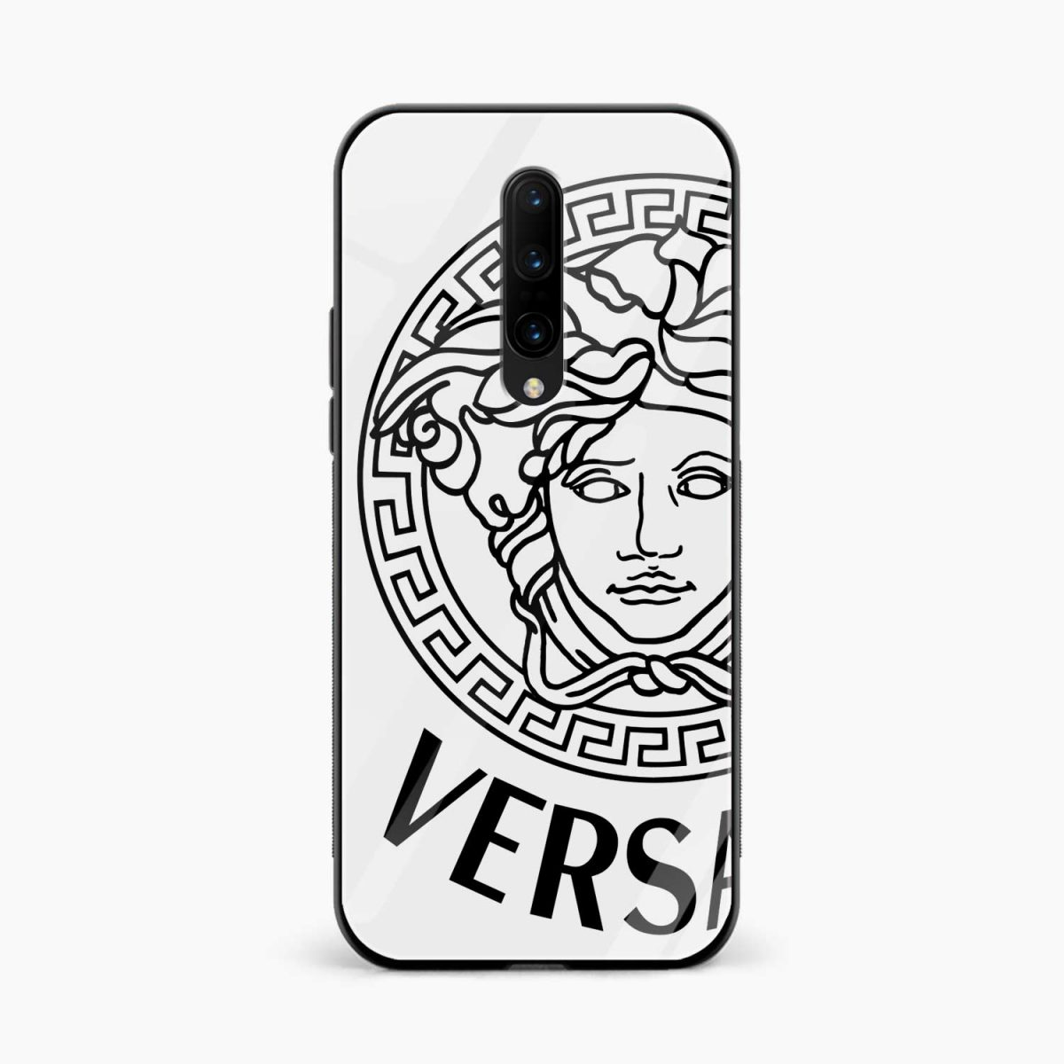 versace black white front view oneplus 7 pro back cover