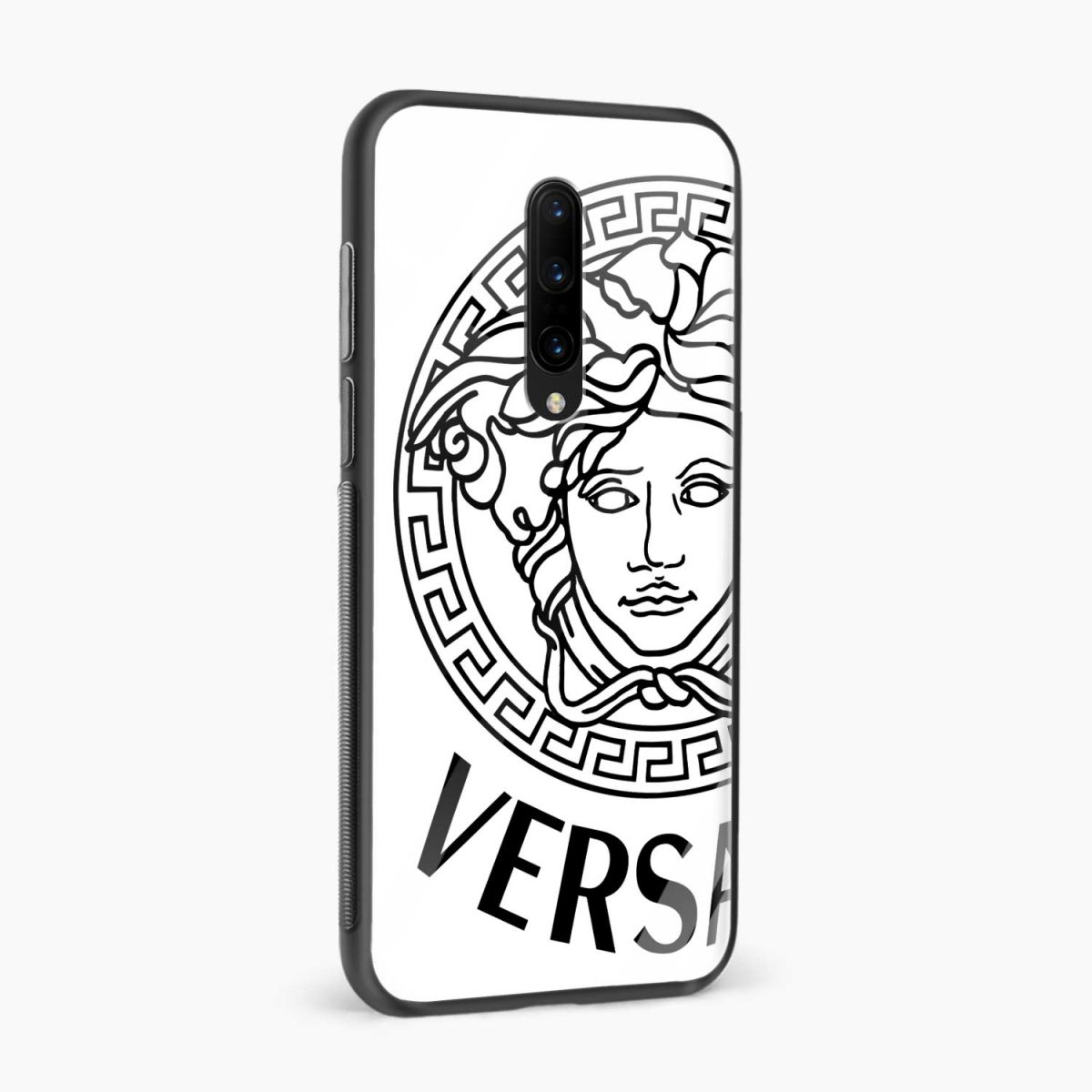 versace black white side view oneplus 7 pro back cover
