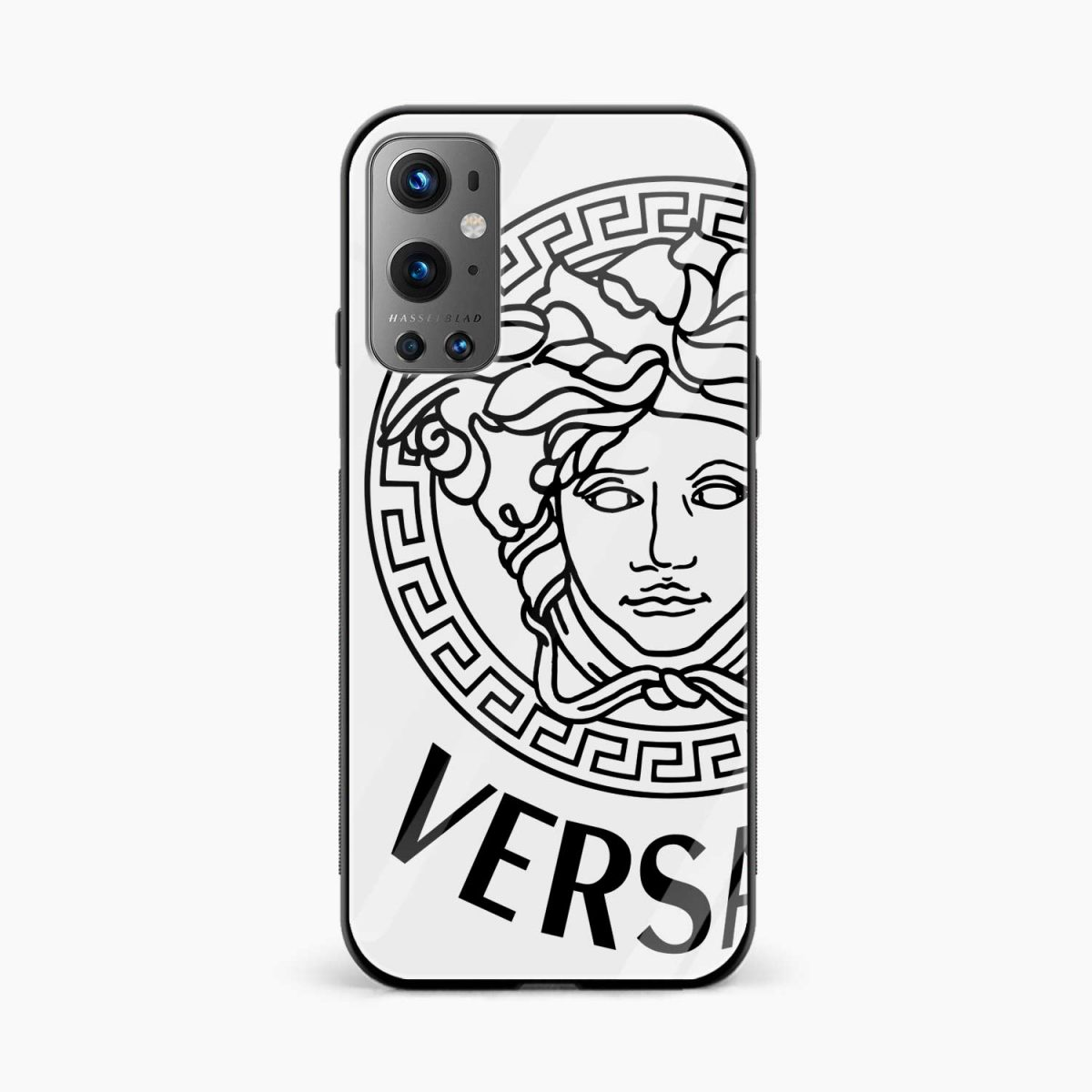 versace black white front view oneplus 9 pro back cover