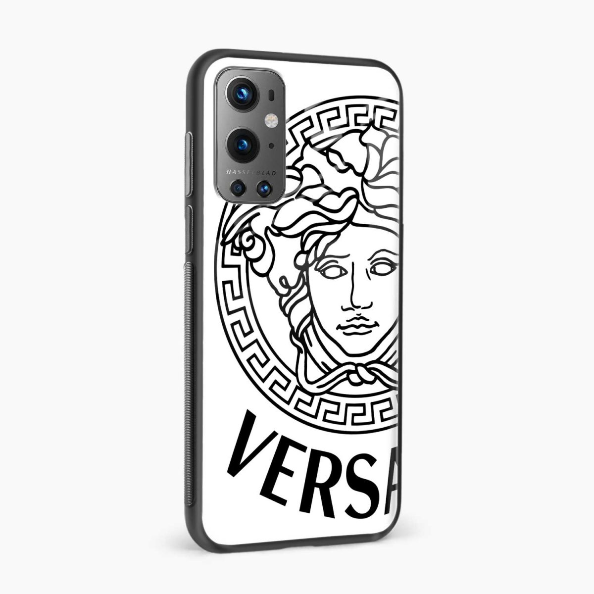 versace black white side view oneplus 9 pro back cover