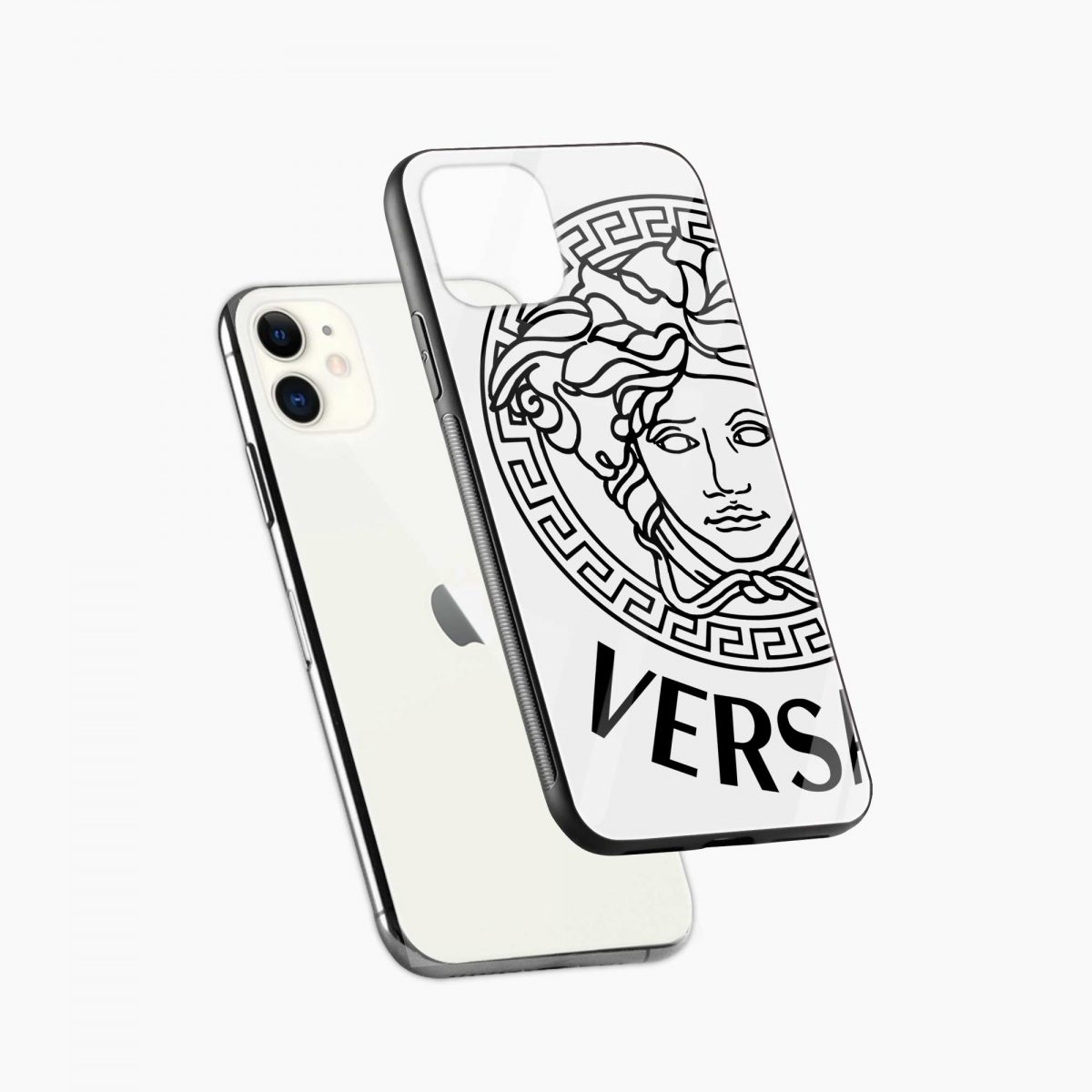 versace black white iphone back cover diagonal view