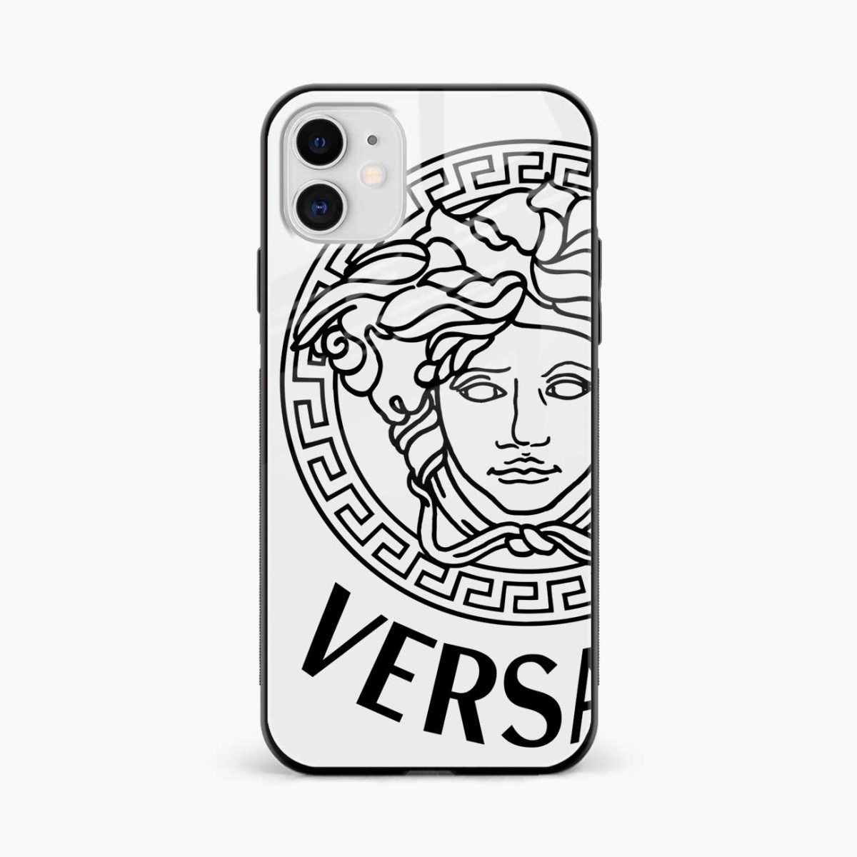 versace black white iphone back cover front view