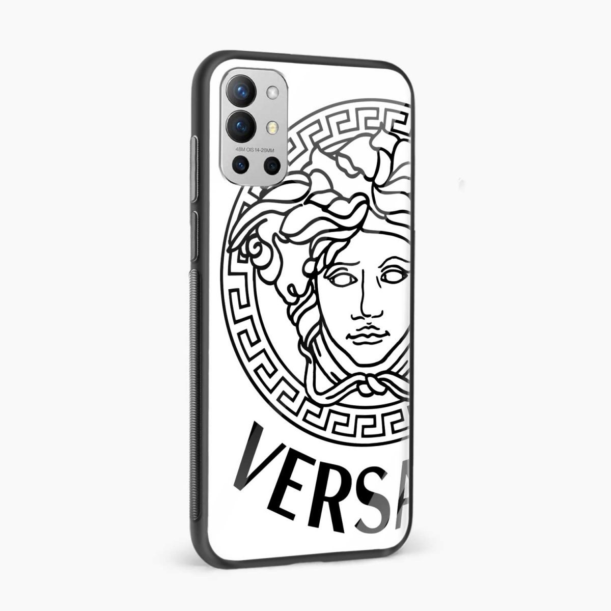 versace black white side view oneplus 9r back cover