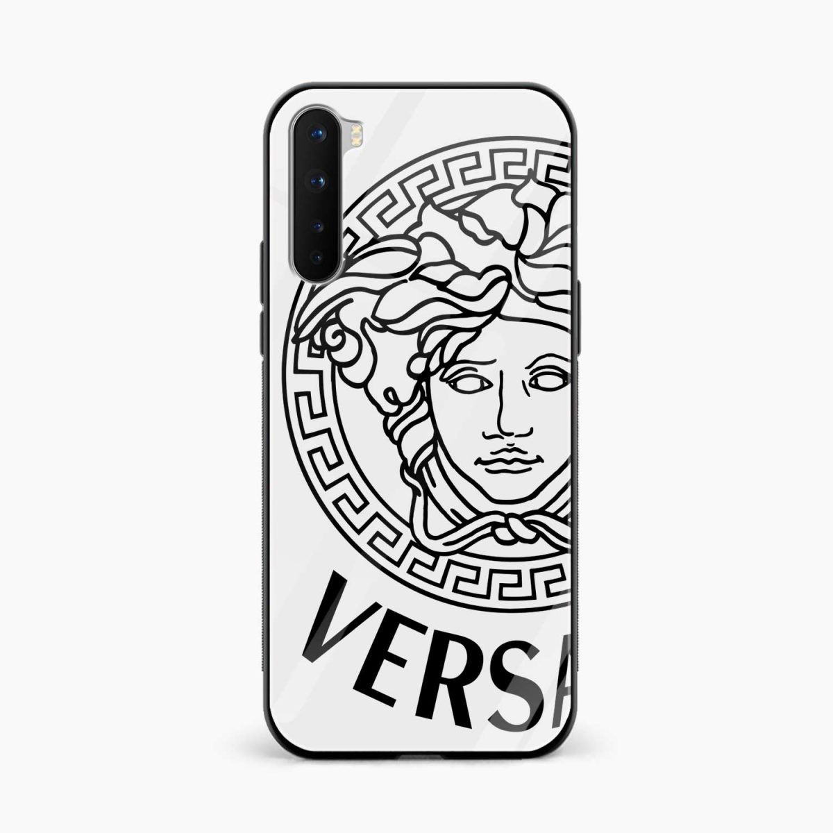 versace black white front view oneplus nord back cover