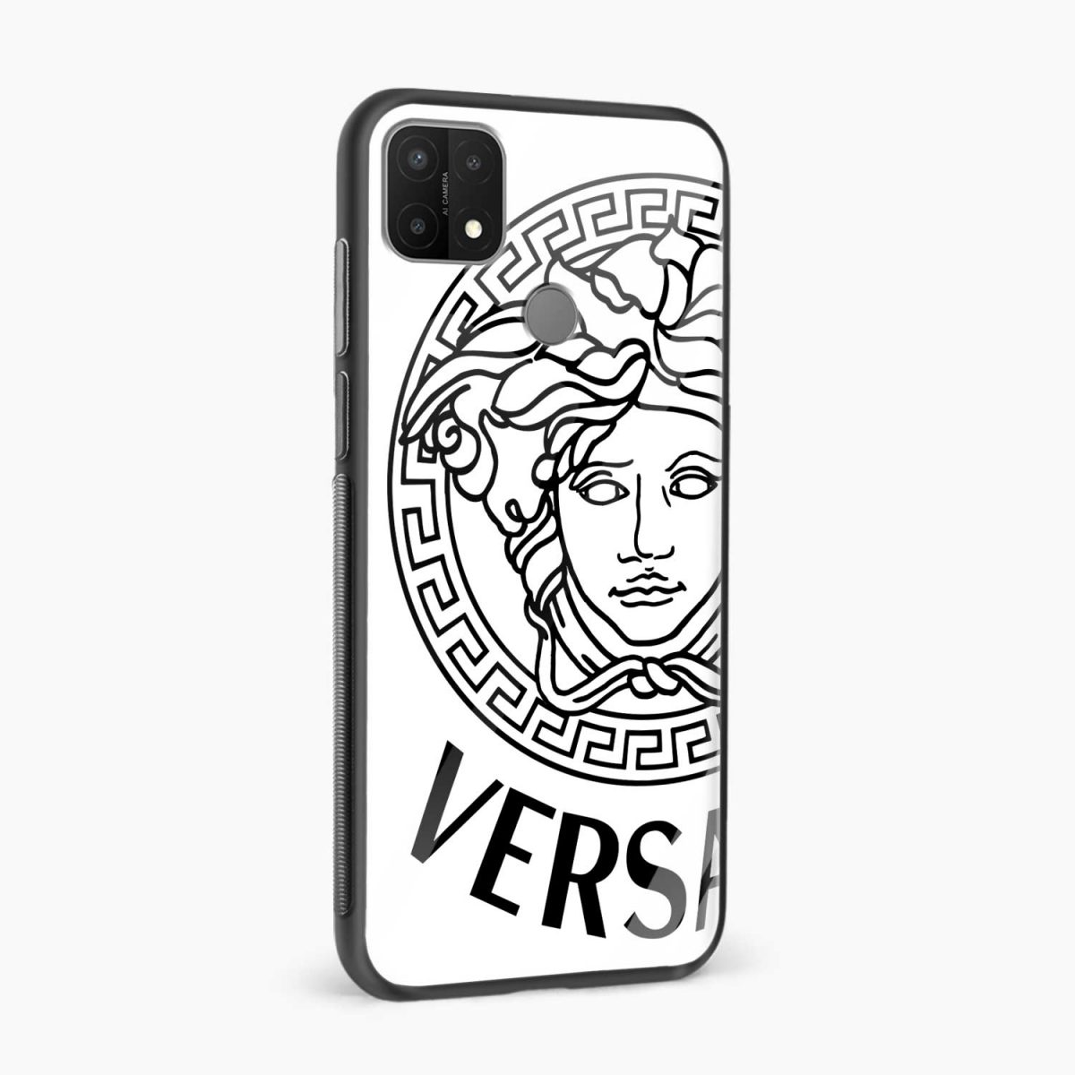 versace black white side view oppo a15 back cover