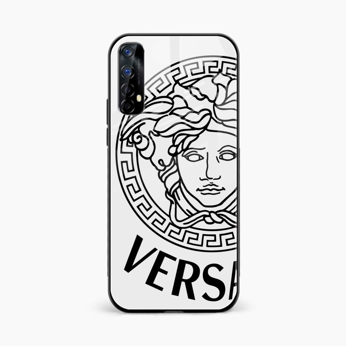 versace black white front view realme 7 back cover