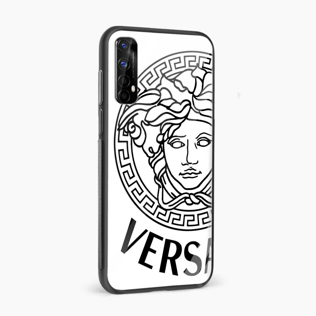 versace black white side view realme 7 back cover