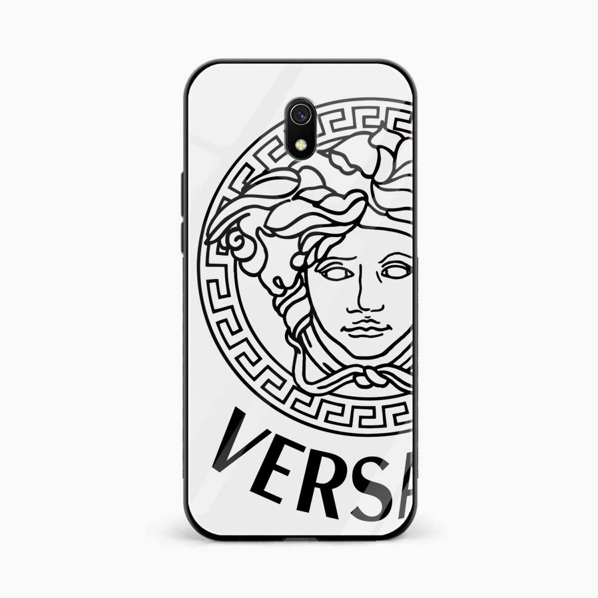 versace black white front view redmi 8a back cover
