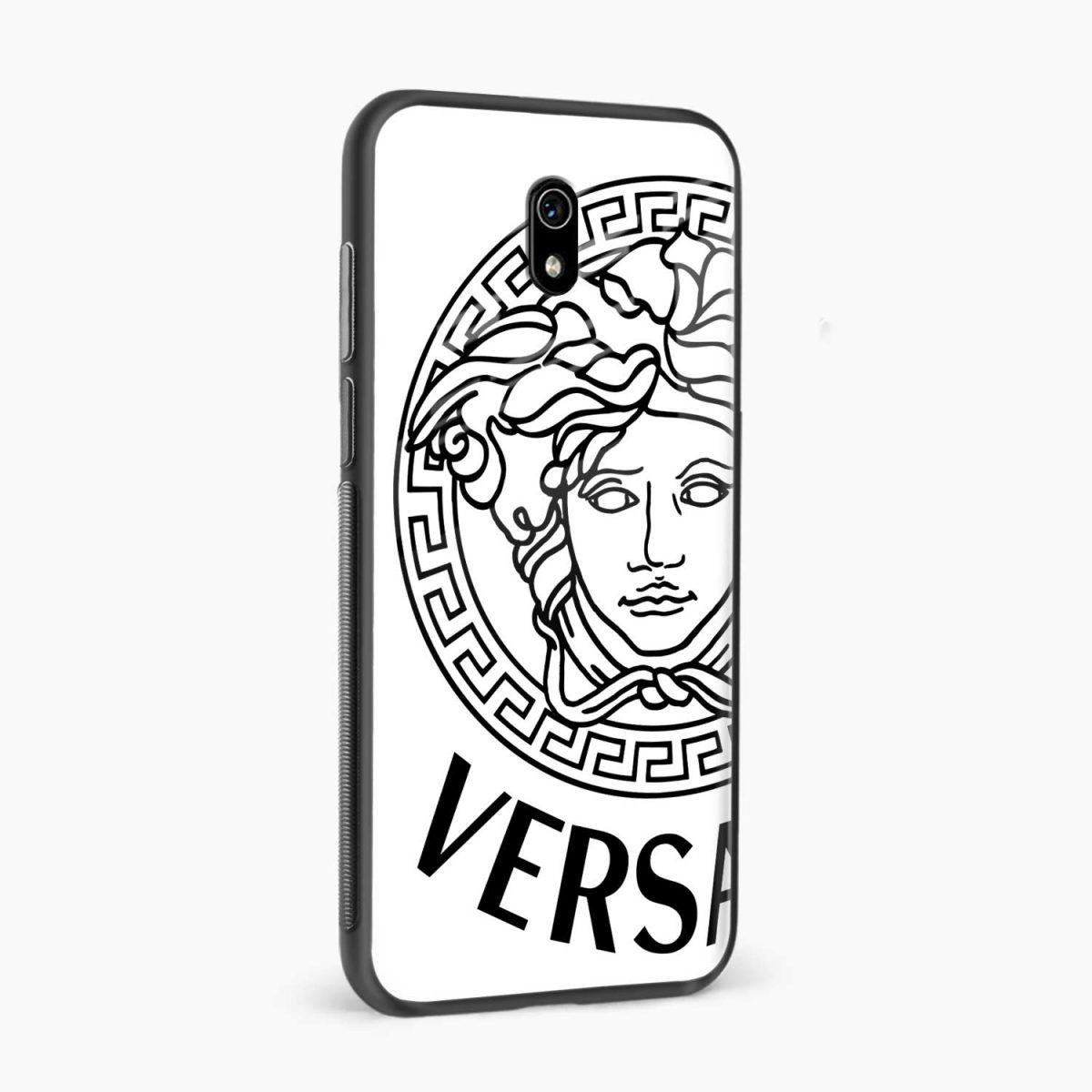 versace black white side view redmi 8a back cover
