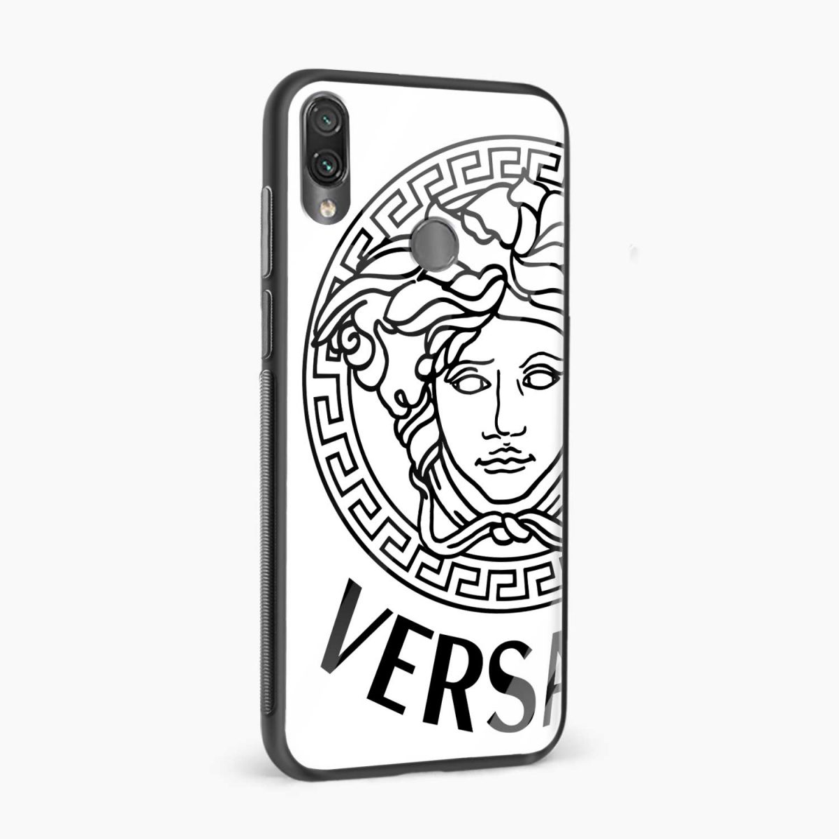 versace black white side view redmi note7 back cover
