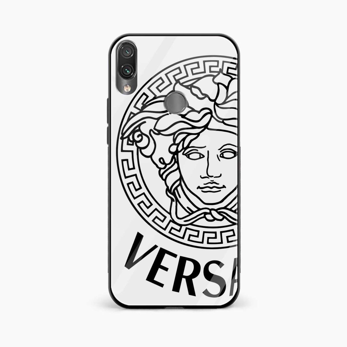 versace black white front view redmi note 7 back cover