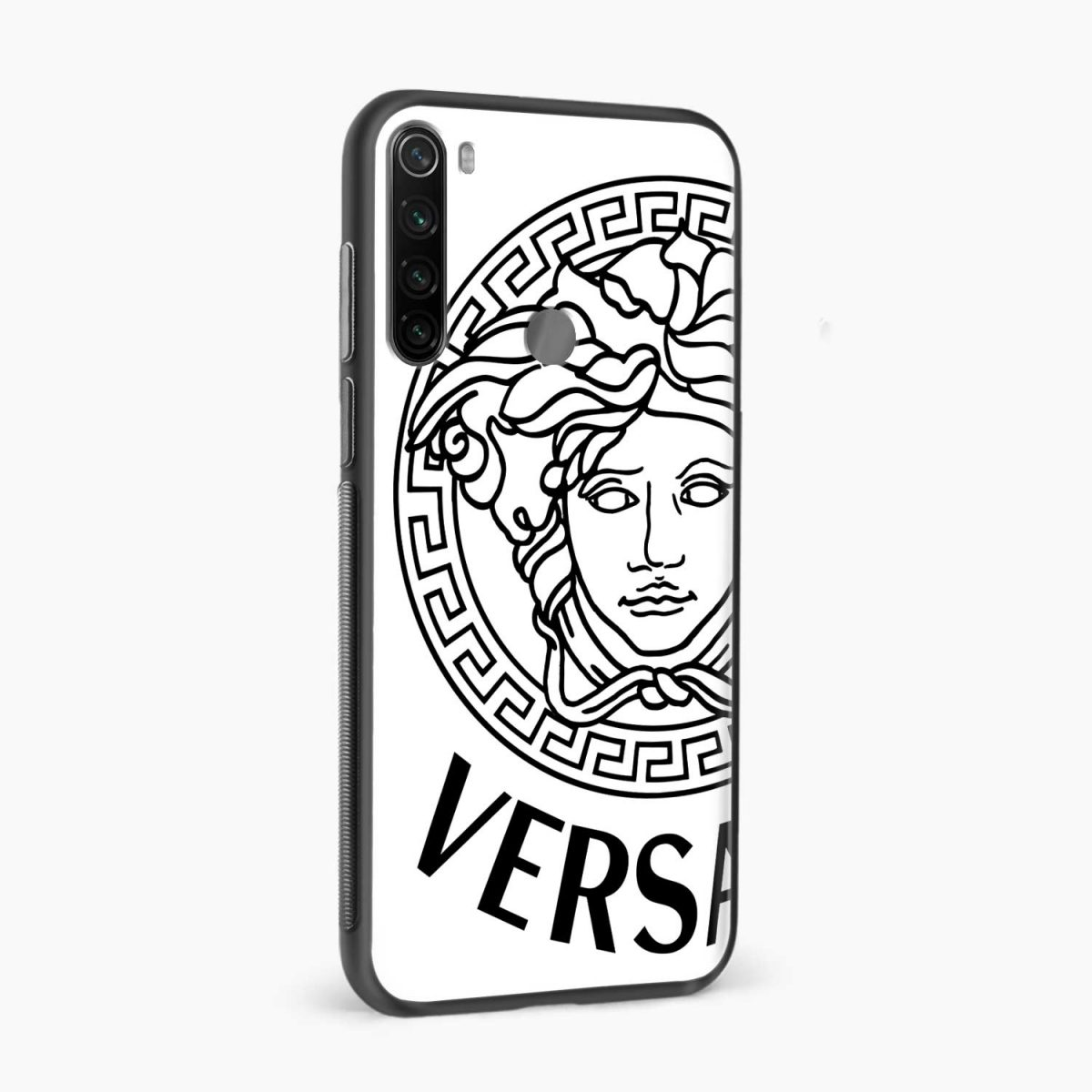 versace black white side view redmi note 8 back cover