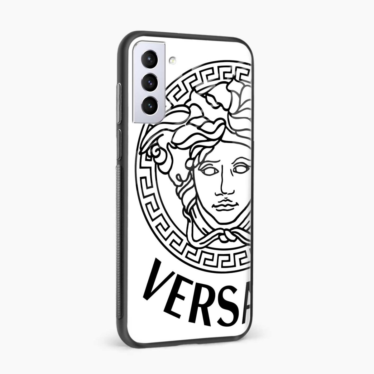 versace black white side view samsung s21 plug back cover