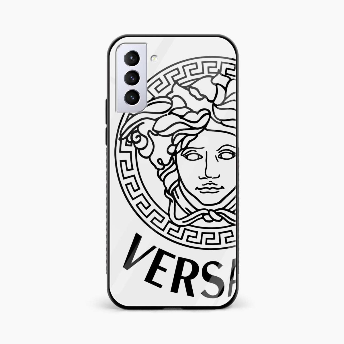 versace black white front view samsung s21 plug back cover