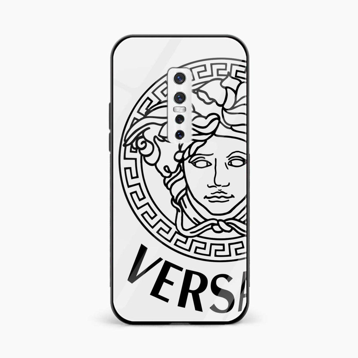 versace black white front view vivo v17 plug back cover