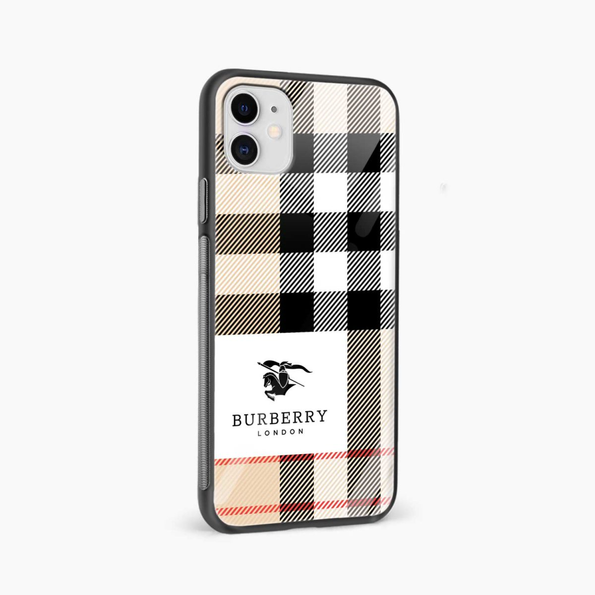 bulberry cross lines pattern iphone back cover side view
