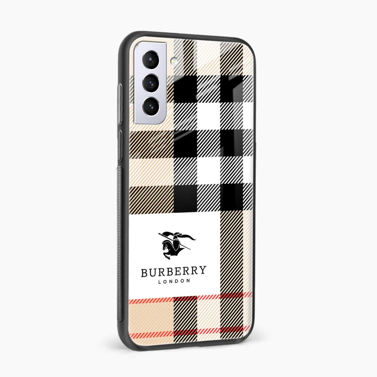 burberry cross lines side view samsung s21 plug back cover