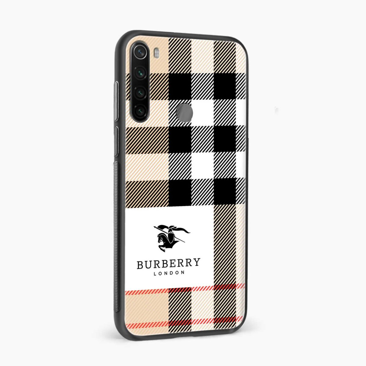 burberry cross lines pattern side view redmi note 8 back cover 1
