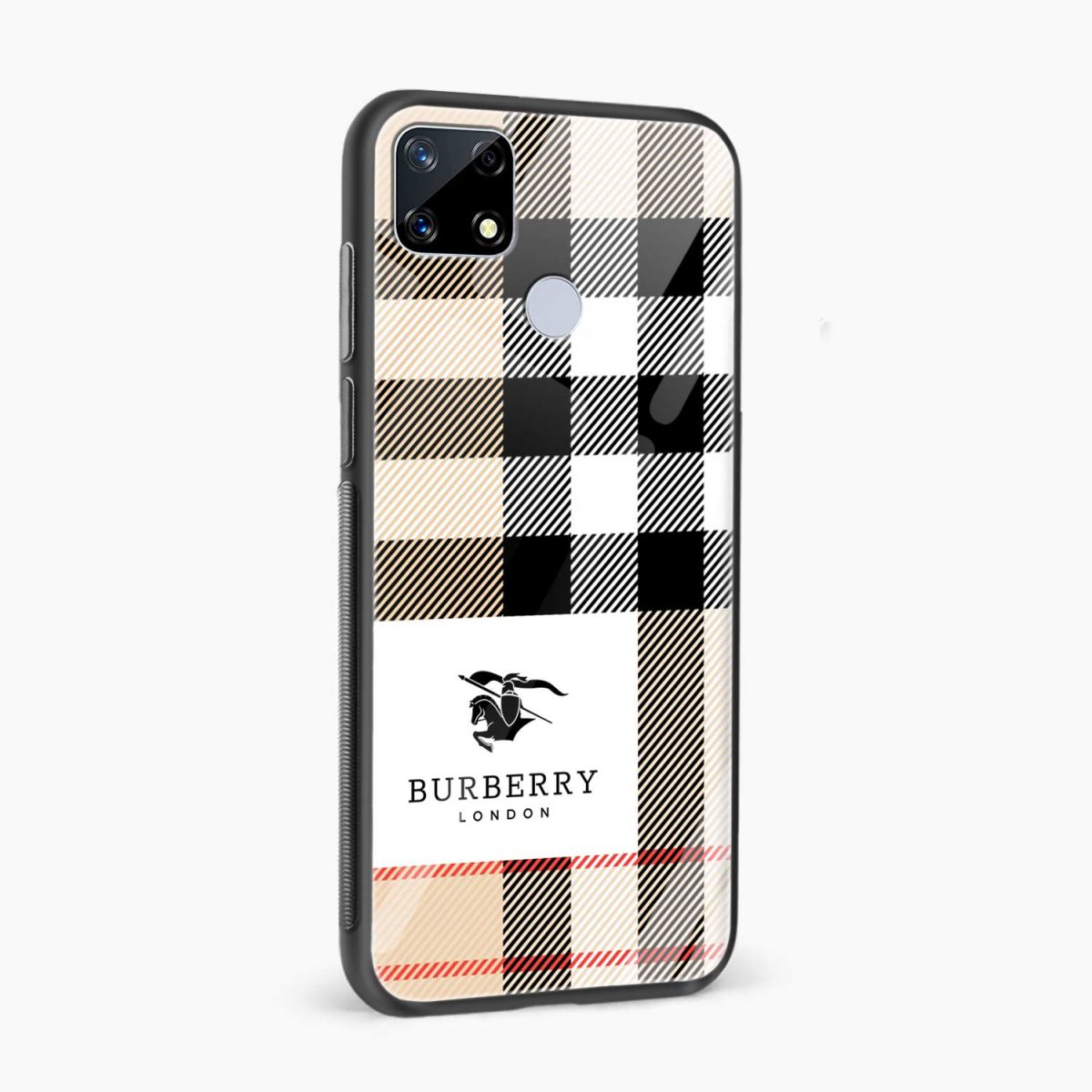 burberry cross lines pattern side view realme narzo 20 back cover