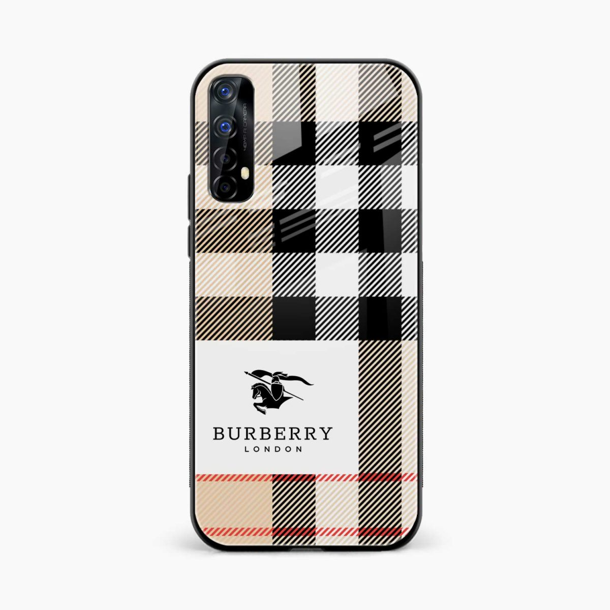 burberry cross lines pattern front view realme 7 back cover