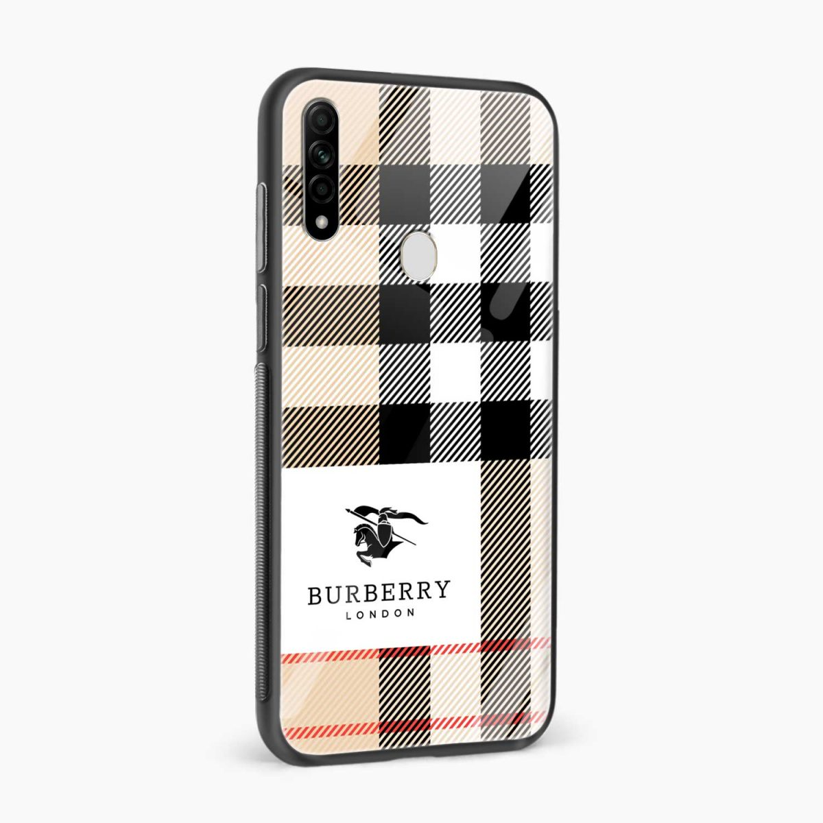 burberry cross lines pattern side view oppo a31 back cover