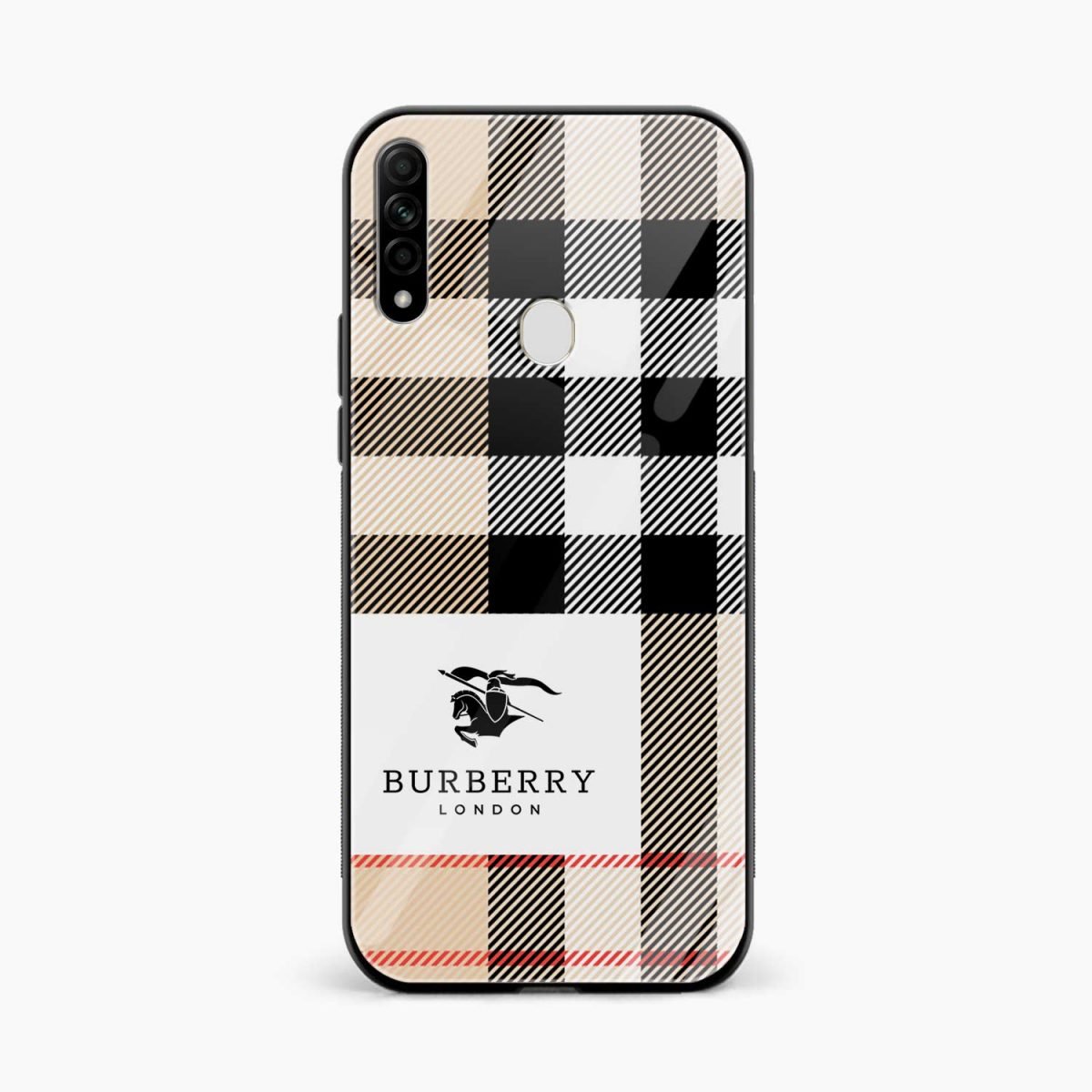 burberry cross lines pattern front view oppo a31 back cover