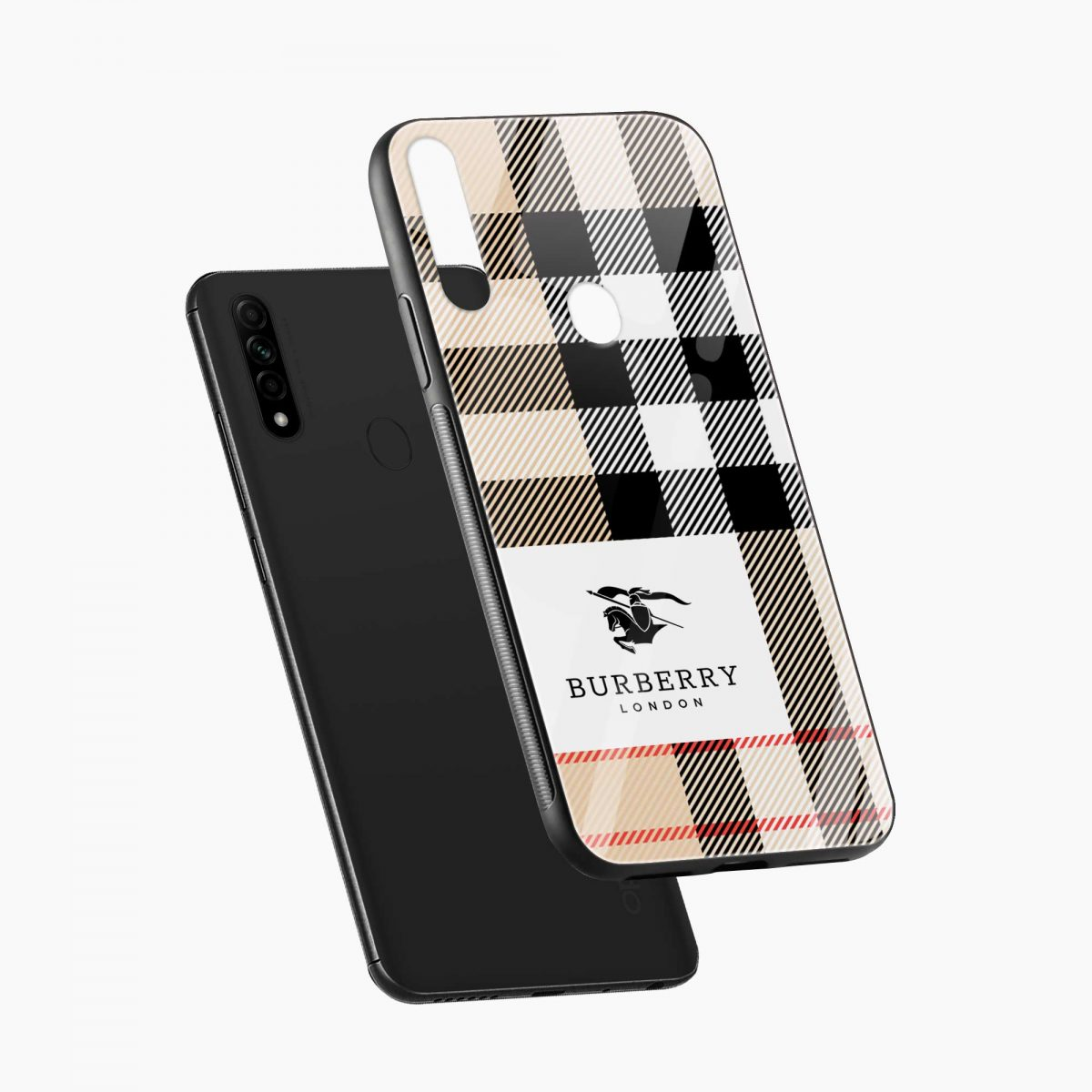 burberry cross lines pattern diagonal view oppo a31 back cover
