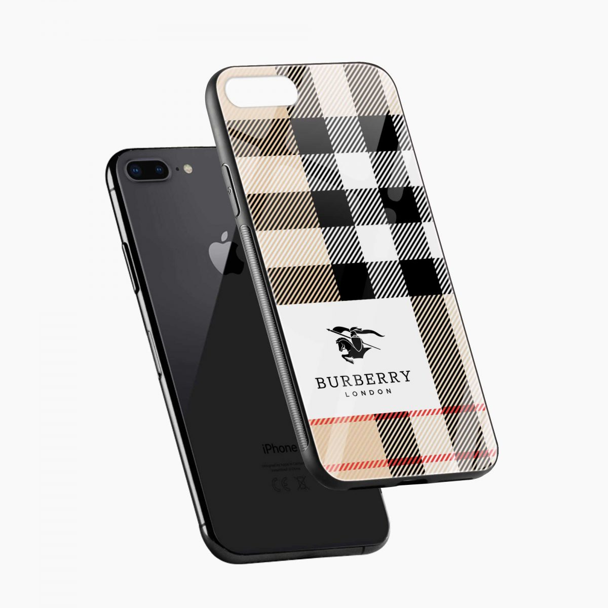 burberry cross lines pattern diagonal view apple iphone 7 8 plus back cover