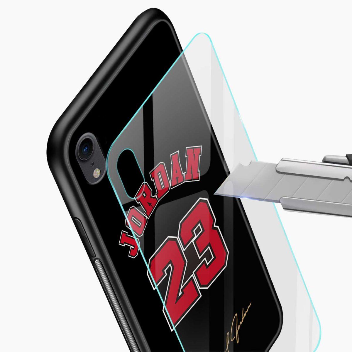 jordan 23 apple iphone xr back cover glass view