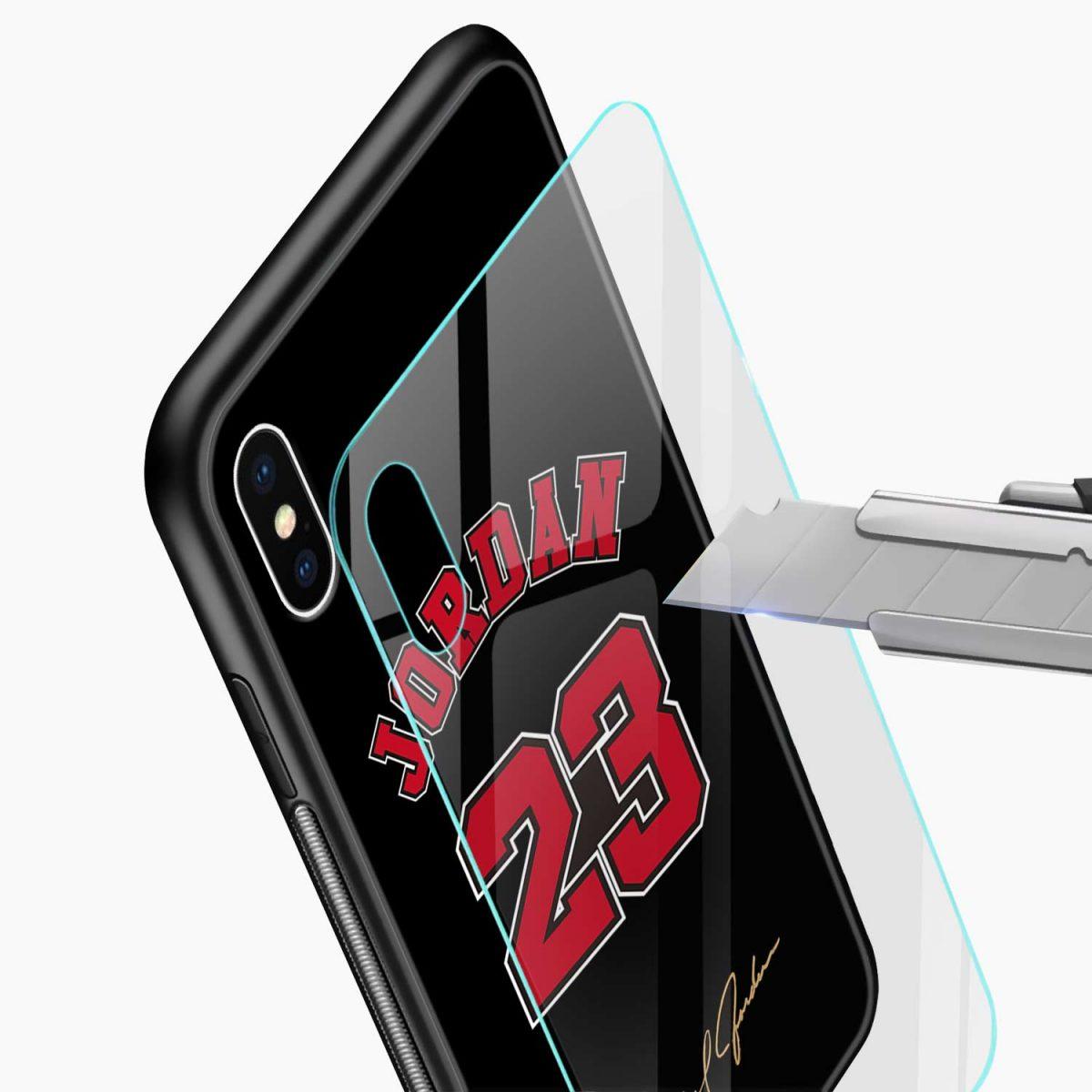 jordan 23 glass view apple iphone x xs max back cover