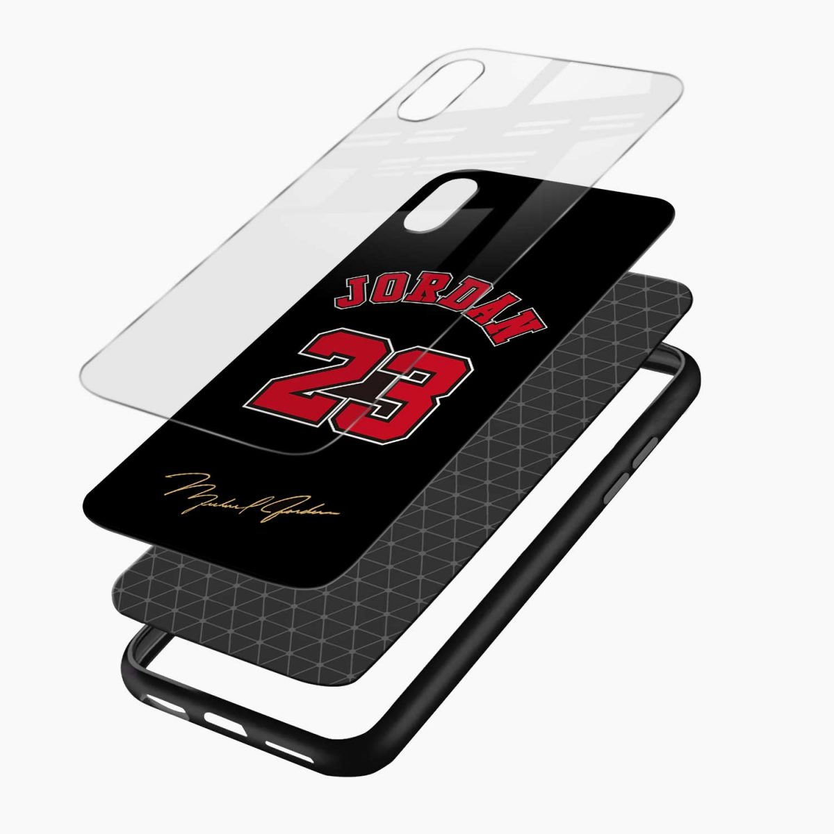 jordan 23 layers view apple iphone x xs max back cover