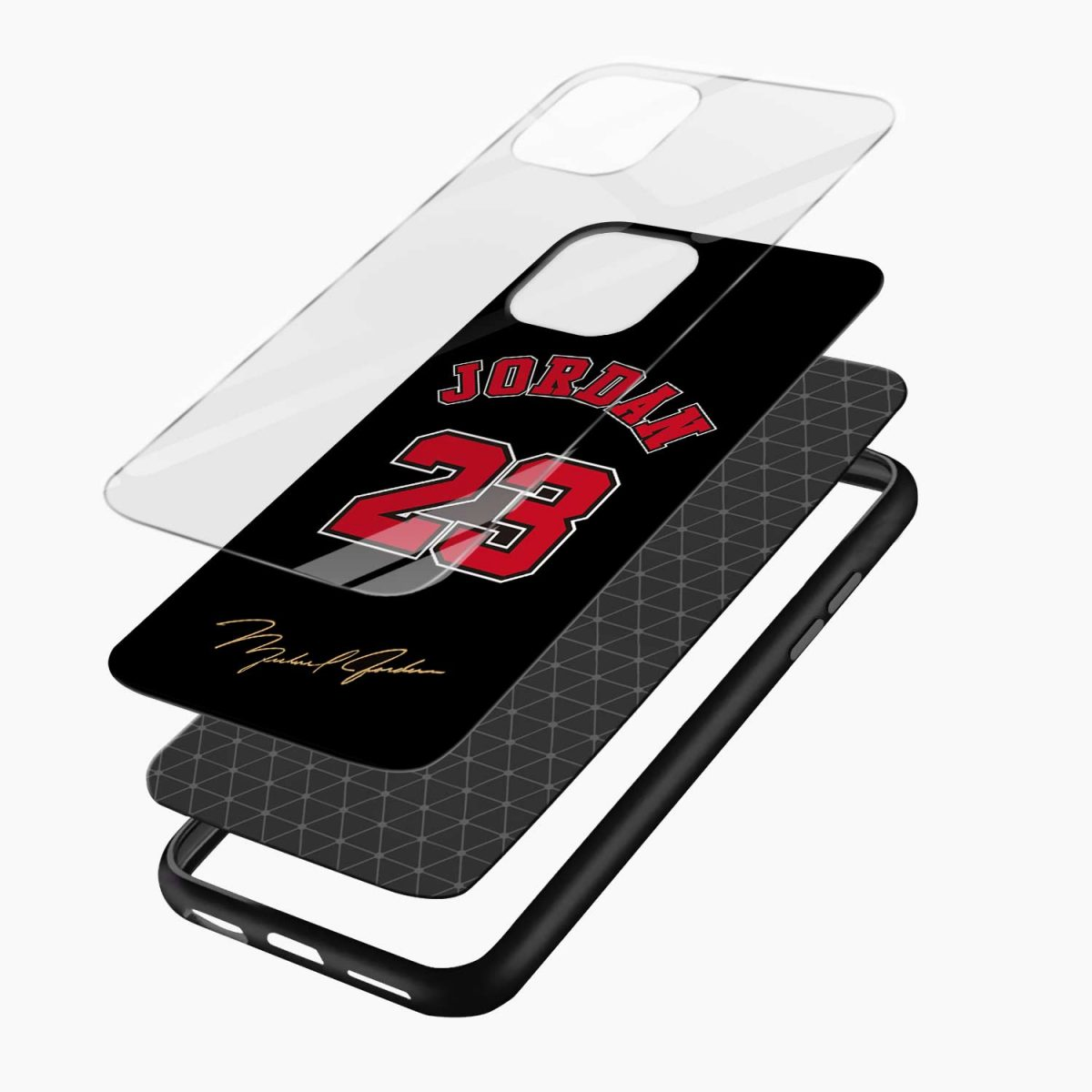 jordan 23 iphone pro back cover layers view
