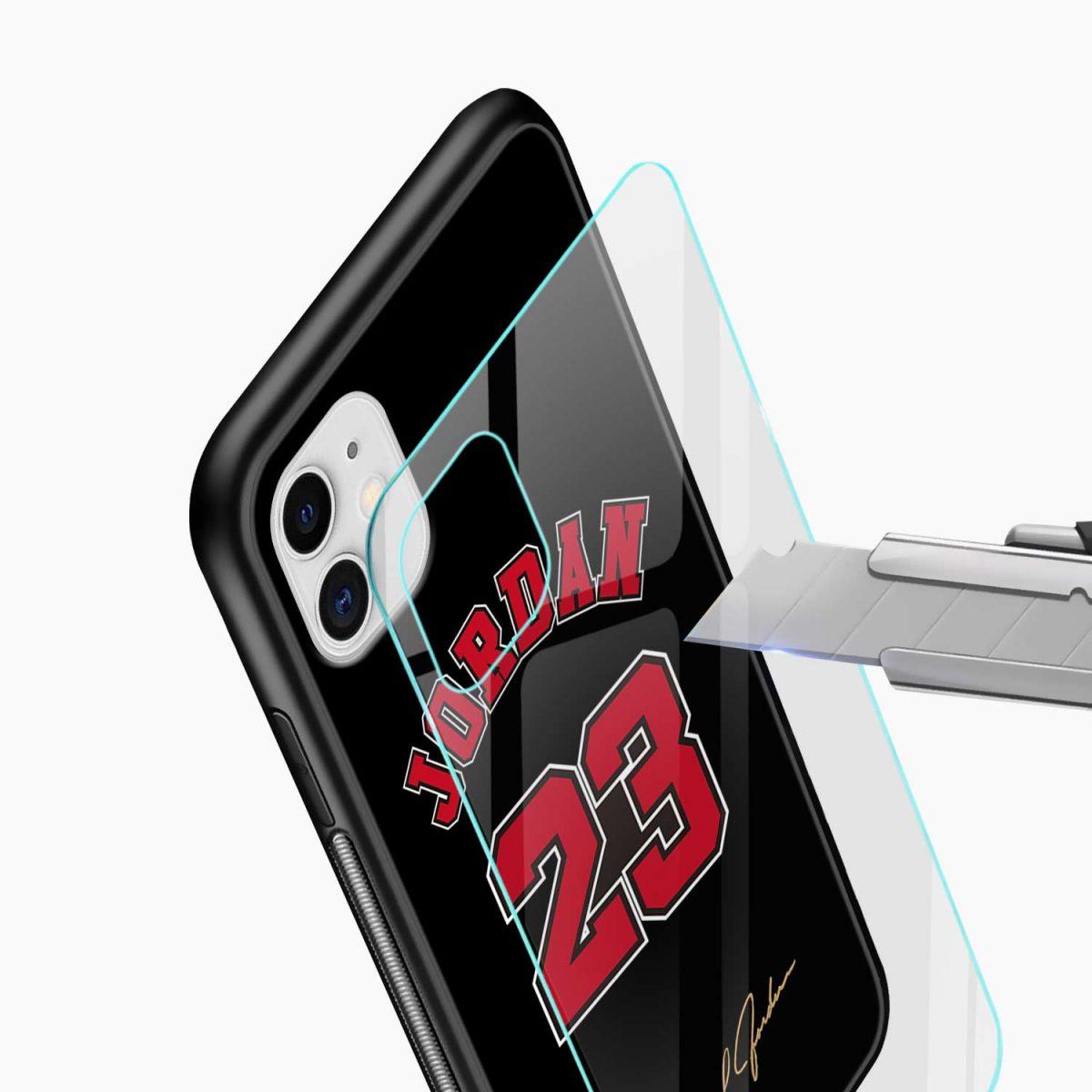 jordan 23 iphone back cover glass view