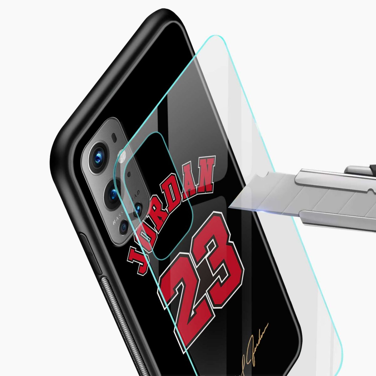 jordan 23 glass view oneplus 9 pro back cover