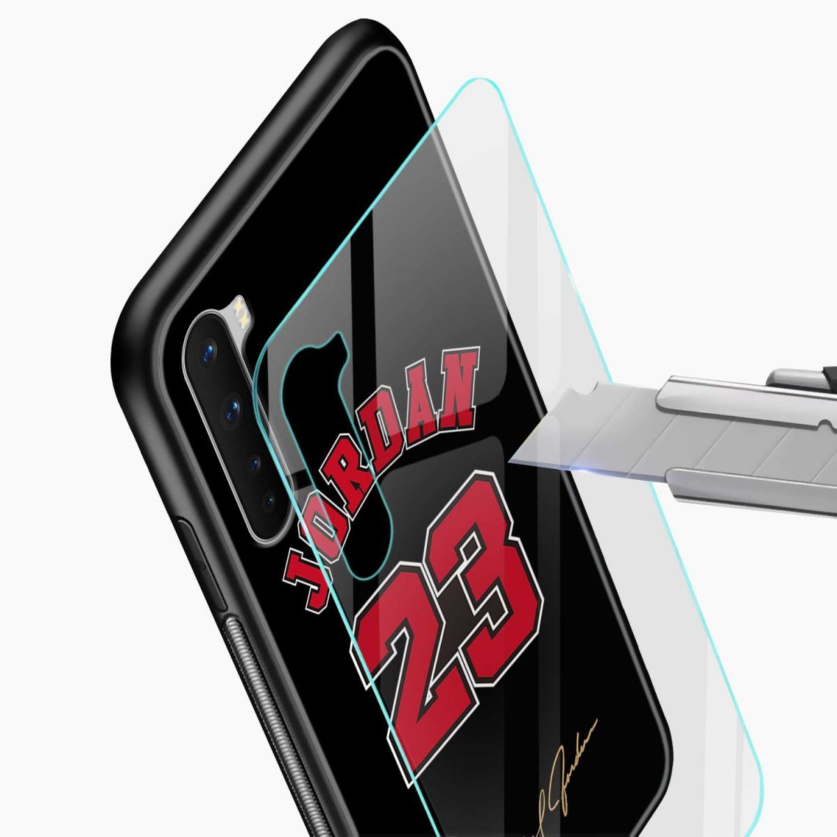 jordan 23 glass view oneplus nord back cover