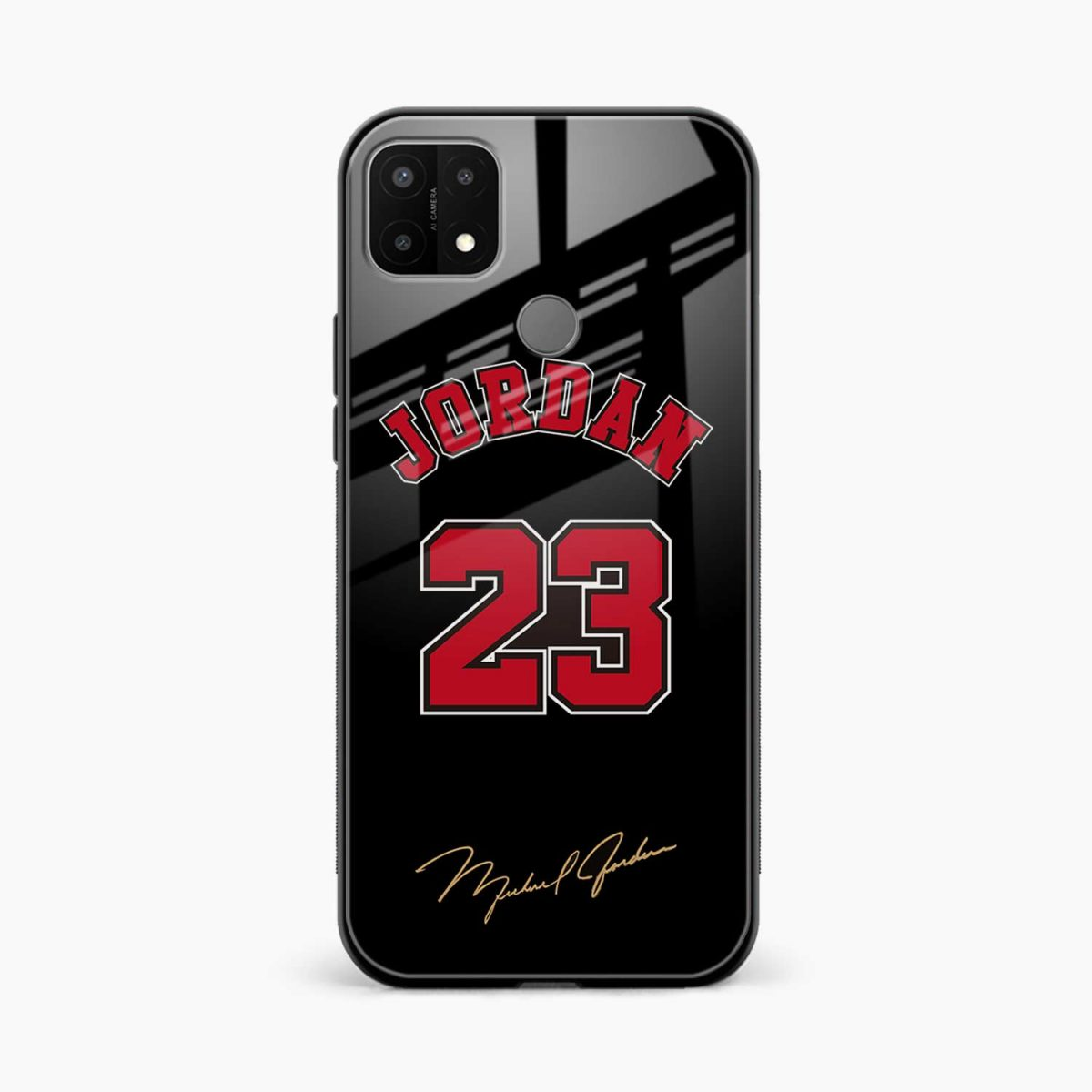 jordan 23 front view oppo a15 back cover
