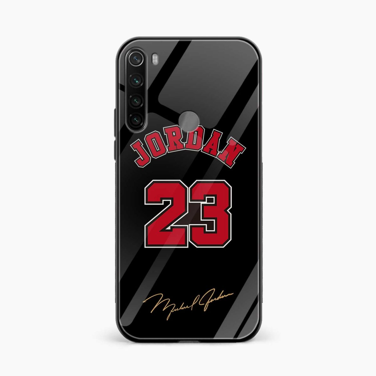 jordan 23 front view redmi note 8 back cover