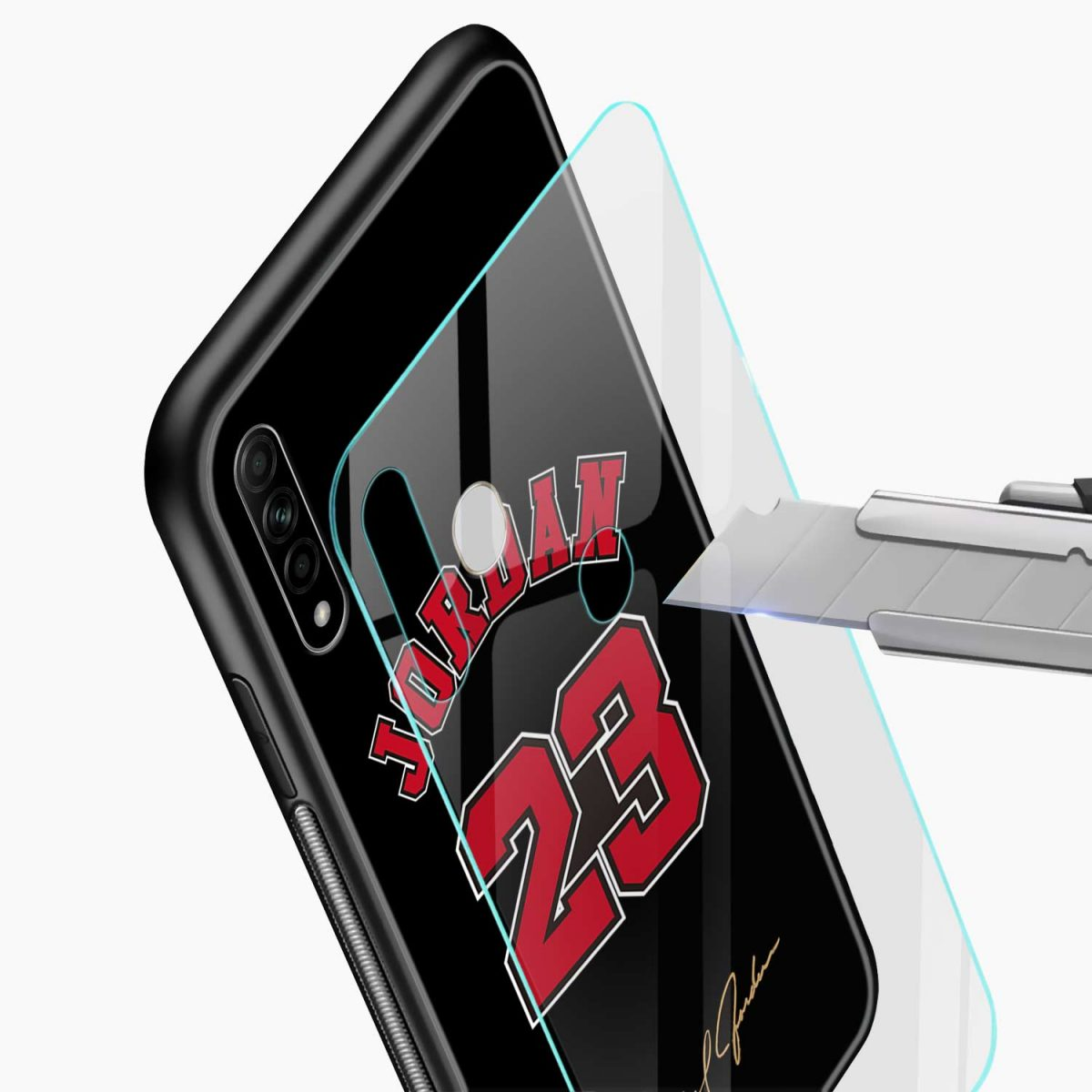 jordan 23 glass view oppo a31 back cover