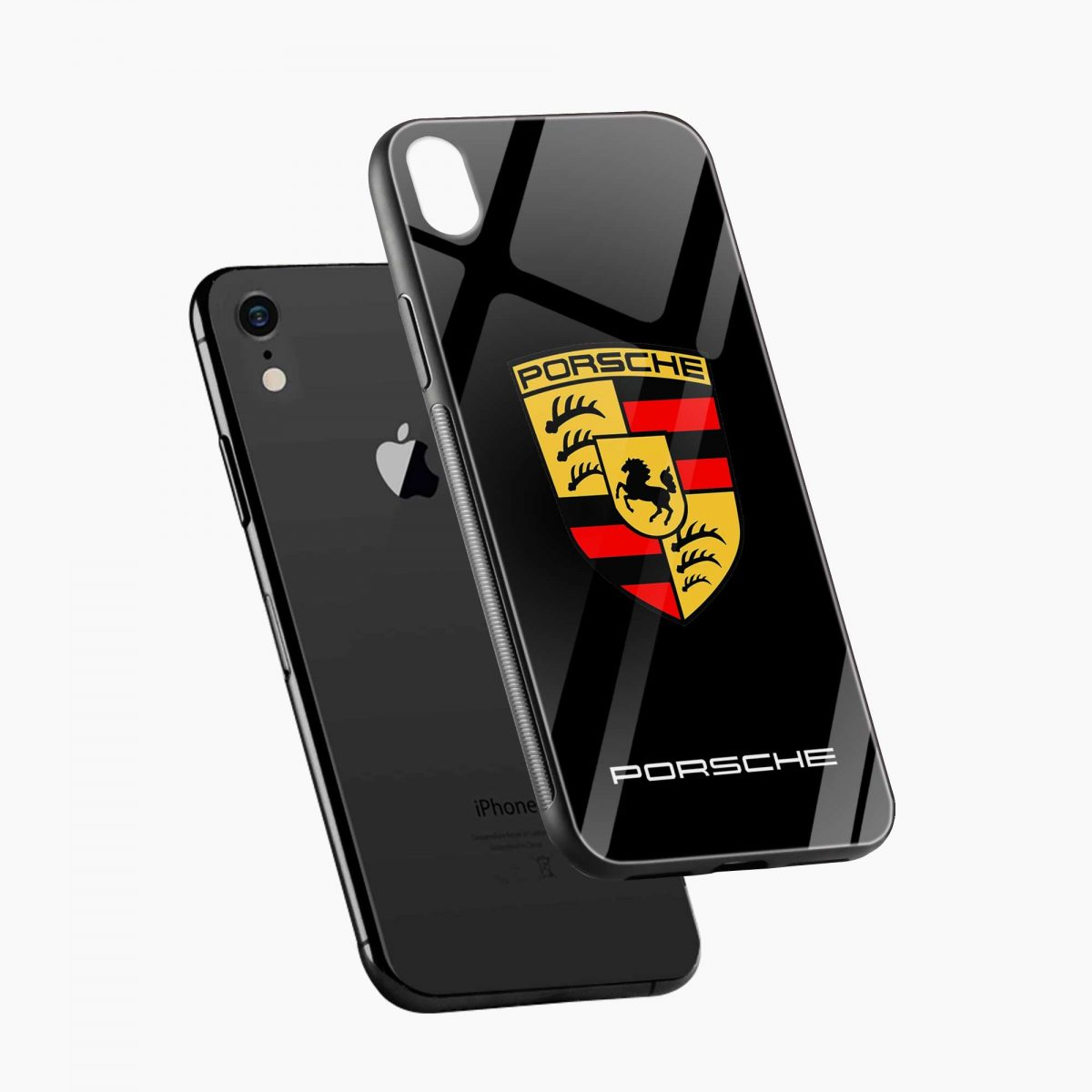 prosche apple iphone xr back cover diagonal view