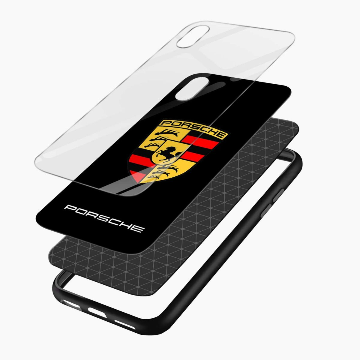 prosche apple iphone xr back cover layers view