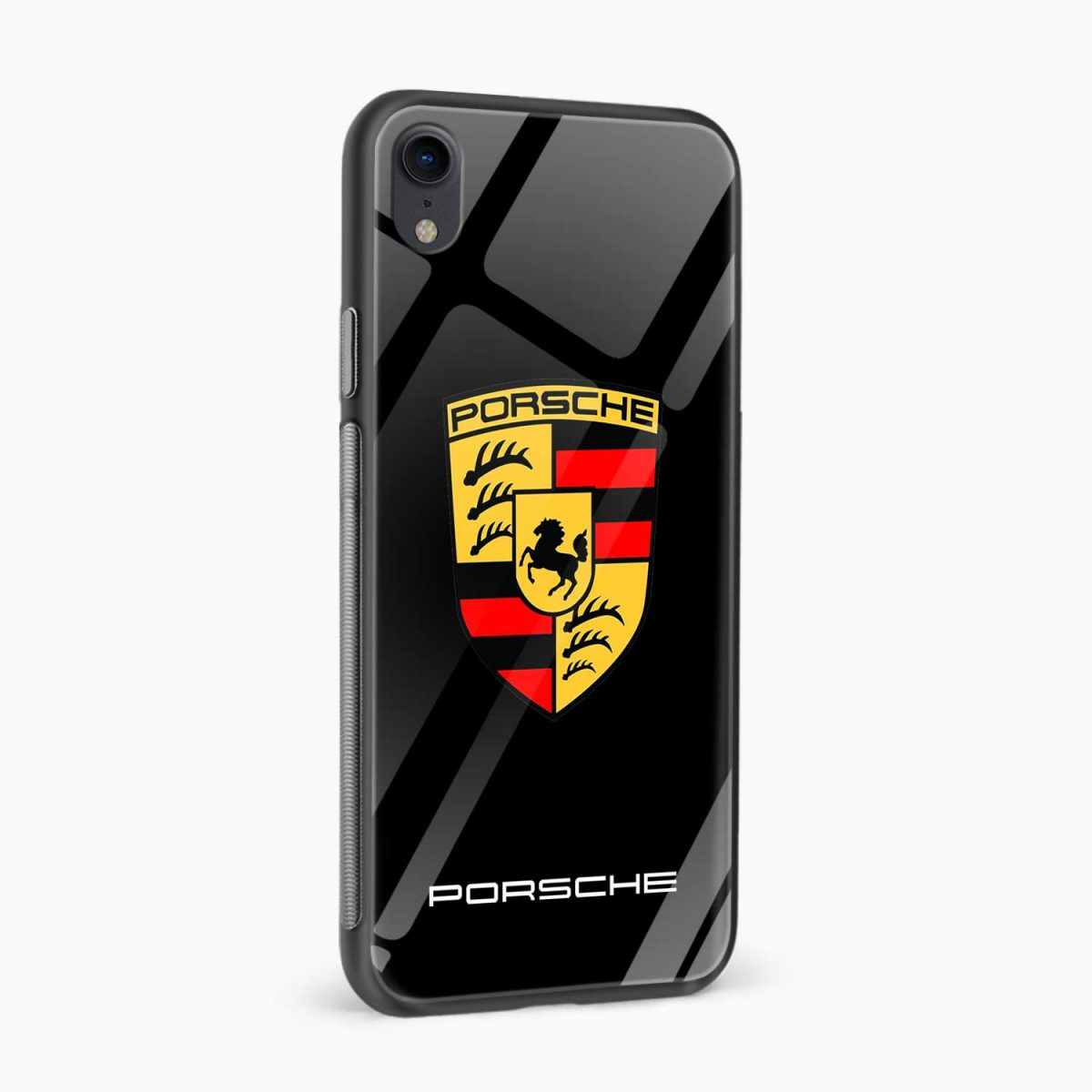 prosche apple iphone xr back cover side view